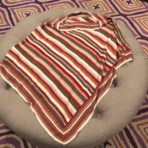 Bcbg striped poncho